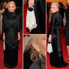 Mary-Kate Olsen, details, at the Met Gala.   She looks eerily weird here, I could sense Lady Gaga almost haha but I still love her <3