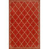 Found it at Wayfair - Ravella Floor Tile Red Indoor / Outdoor Rug
