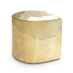 Modern Furniture | Brass Teardrop Side Table | Jonathan Adler
