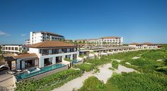 Panoramic view of the beach, protected flora and Presidential and Preferred Club Master Suite private pools at Secrets Playa Mujeres ~ Unlimited Vacation Club