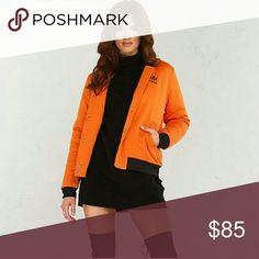 Adidas Brooklyn Heights Orange Bomber Jacket Nwt adidas Jackets & Coats