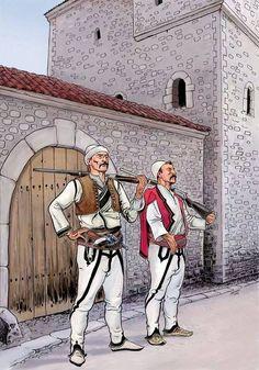 Albanian Illustrations by Shpend Kada Albanian Tattoo, Albanian Culture, Albania Travel, Tirana Albania, Ornella Muti, Funny Adult Memes, Dragon Artwork, In Ancient Times, Historical Clothing