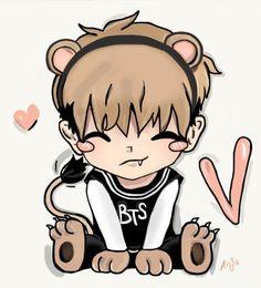 bangtan boys Awww...my cute V