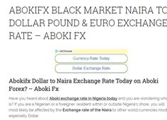 Abokifx Black Market Rate Today Euro Pounds Dollar To Naira Aboki Fx Exchange Provides You With The Daily