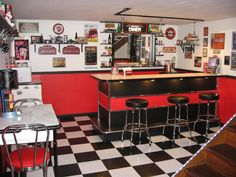 50s style diner ideas for basement - Google Search