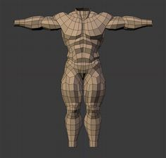Hey gang, Here's my latest work in progress!! =D I'm currently trying to fine-tune my topology knowledge with a low-poly base male mesh.