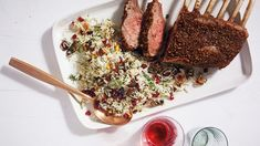 From grilled lamb burgers to a spice-rubbed rack of lamb, find quick and easy lamb recipes from Martha Stewart. Herbed Rice, Pomegranate Recipes, Pomegranate Seeds, Slow Cooked Lamb, Lamb Curry, Grilled Lamb, Ground Lamb, Spice Rub, Lamb Chops