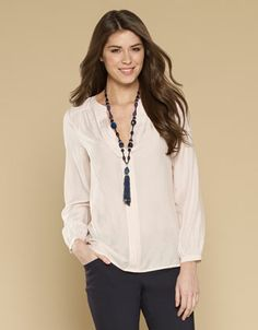 Emily Pleat Blouse - pretty for the evening- the neckline looks good as not too low. Wear with long necklace and jeans or could be dressed up with a smart pair of troursers