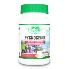 Pycnogenol and Grape Seed Extract 100mg   40, 80 capsules. Nature's super antioxidant. ...READ MORE