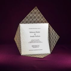 Laser Cut Invite - Tuscan - Thermography Printed | Paper Orchid