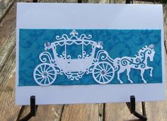 Horse and Carriage Card 142 by JoanneHarveyDesigns on Etsy