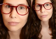 Red Eyeglasses P3 Large Round Oversized Eyewear by JustheGoodStuff