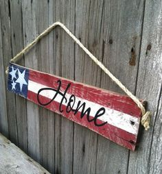 US Flag Sign Patriotic Decor Stars and by GECottonwoodCottage