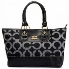 Coach Kristin Op Art Classic Business Bag Black-Silver U03009 $74.00 http://www.theredstyle.com/