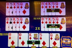 Chances of catching a flush holding four cards to it are one in five. Here, out of five hands, I caught three. Horseshoe Casino 11 April 2018.