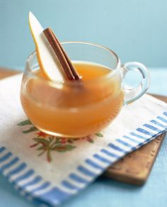 blend of a hot pear cider, spices and Calvados brandy. 1.5 oz Calvados ...