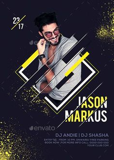 Dj Party Event Flyer Template - Flyer Templates for Party Club Events Event Poster Design, Graphic Design Flyer, Creative Poster Design, Graphic Design Trends, Creative Posters, Dj Party, Disco Party, Party Flyer, Flugblatt Design