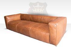 Lounge Sofa Tribeca 3-Sitzer Leder Old Sattle Nut HALO est 1976