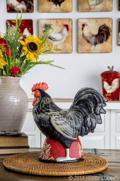 Rooster decor.