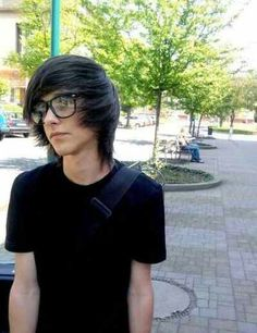 Scene boy with glasses