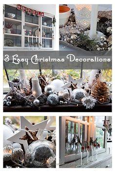 three easy Christmas decorations anyone can do. http://www.songbirdblog.com