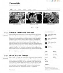 ThemeMin A Typography Focused, Lightweight WordPress Theme By Themify