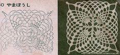 Вязание: Квадратные мотивы (Много)