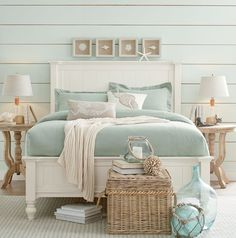 Get inspired by Coastal Bedroom Design photo by Wayfair. Wayfair lets you find the designer products in the photo and get ideas from thousands of other Coastal Bedroom Design photos. Coastal Bedrooms, Coastal Living Rooms, Country Bedrooms, Beach Cottage Bedrooms, Coastal Master Bedroom, Modern Bedroom, Coastal Entryway, Cottage Bedroom Decor, Farm Bedroom