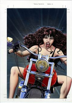 Original cover painting by Brian Bolland for Vamps #2, published by DC Comics Vertigo, September 1994.