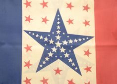 Stars and Stripes Fabric Red White & Blue 4th of by efinegifts, $6.95