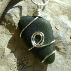 Items similar to Handmade Seaglass Jewelry: Dark Green Seaglass Necklace on Etsy Sea Glass Necklace, Sea Glass Jewelry, Dark, Trending Outfits, Unique Jewelry, Handmade Gifts, Green, Stuff To Buy, Etsy