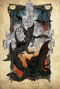 Lord of the Rings Tarot - The Tower