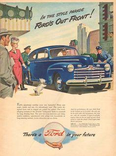 1940s Vintage West Highland White Terrier Westie Dog Ford Police Officer Car Ad   eBay