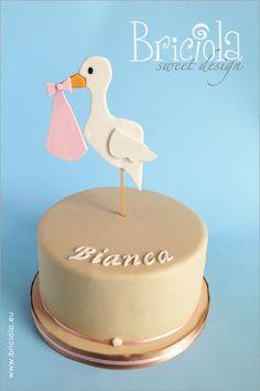 Torta cicogna - Briciola sweet design - stork cake