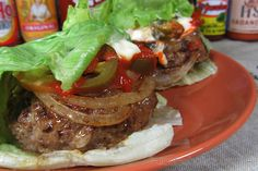 """A low carb burgerstuffedwithflavor A low carb burger simply means no buns, but not no flavor!After trying thisburgeronce, you'll itching to makeit for your friend's next barbecue (grilling only amplifies """"incredibly delicious"""").  This recipe is very flexible and really caters to each user's preferences. If you"""