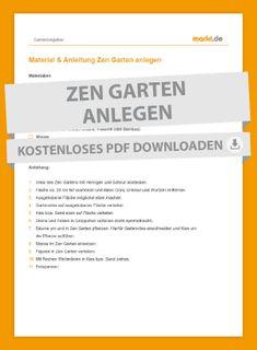 Materialliste und Anleitung für einen Zen Garten. 🏡 I markt.de #checkliste #garten #zen #gestaltung