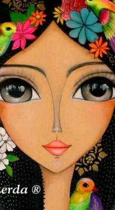 Risultati immagini per romi lerda dipinge ad olio? Drawing Eyes, Eye Art, Whimsical Art, Cool Drawings, Art Lessons, Painted Rocks, Art Girl, Art Projects, Illustration Art