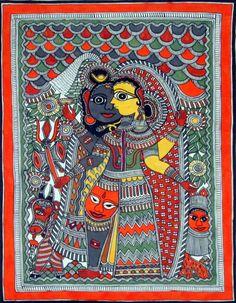 Madhubani Painting History Madhubani Paintings Shiv