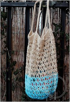 Ravelry: Honeycomb mesh market bag pattern by Agata Makoudi