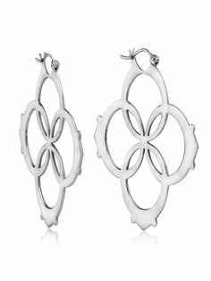 Lilly Street Sterling Silver Large Logo Earrings
