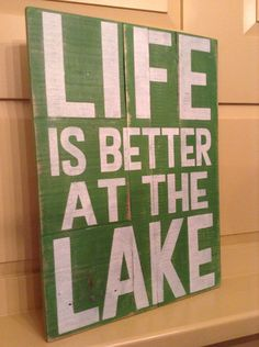 Life Is Better At The Lake Pallet Sign on Etsy, $29.00 www.facebook.com/designsatdaybreak