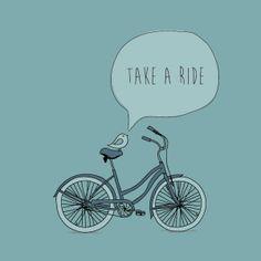 Take A Ride, biking illustration by DryIcons.com
