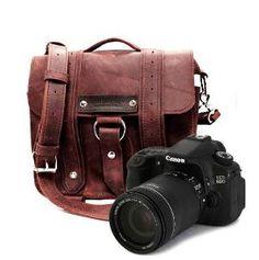 Safari Camera Bag Burgundy Thick Full Grain by CopperRiverBags