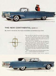 1958 Lincoln Vintage Advertisement