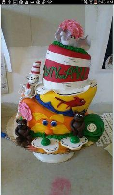 Dr suess theme cake