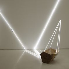 Keith Lemley: Arboreal: Wood and neon become an unlikely combination in the artist's site-specific installation