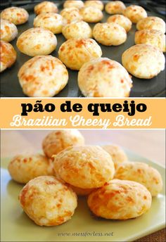 Pão de queijo is Brazilian Cheesy Bread. It is simple to make and is unlike anything you've ever tasted. My family loved this easy bread recipe!