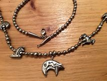 A closer view of the animal motives of this navajo necklace...