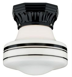 schoolhouse lighting in black and white | ... lights — the oldies in Rejuv's lineup — all come in black, white