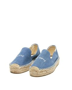 Soludos Ashkahn Sorry/not Sorry Embroidered Smoking Slipper in Blue - Save 21% | Lyst